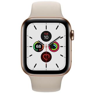 アップル(Apple)のAppleWatch Series 5 GPSCellularゴールドステンレス(腕時計(デジタル))