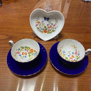 エインズレイ(Aynsley China)のエインズレイ カップ&ソーサー ティーカップ 2客セットハートプレート(グラス/カップ)