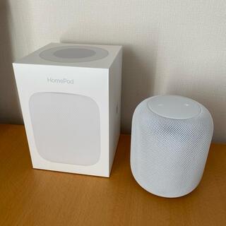 アップル(Apple)のAPPLE HOMEPOD ホワイト MQHV2J/A スマートスピーカー(スピーカー)