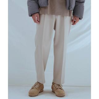ハレ(HARE)のlidnm pe/rayon relax pants スラックス 白パンツ S(スラックス)