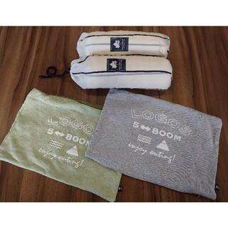 ロゴス(LOGOS)のLOGOS デザインインフレート枕 ×2(寝袋/寝具)