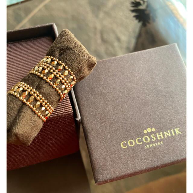 COCOSHNIK(ココシュニック)の新品未使用 店舗人気完売 ココシュニック ゴールドリング レディースのアクセサリー(リング(指輪))の商品写真