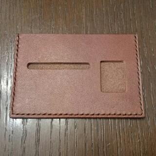 トチギレザー(栃木レザー)の栃木レザー 薄型免許証ケース(ブラウン)(その他)