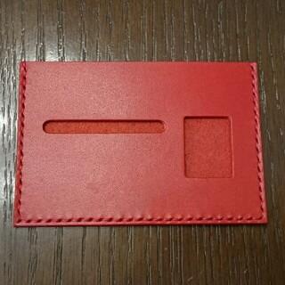 栃木レザー - 栃木レザー 薄型免許証ケース(レッド)