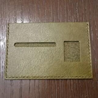 トチギレザー(栃木レザー)の栃木レザー 薄型免許証ケース(カーキ)(その他)