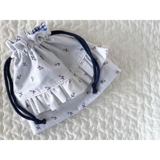 ボンポワン(Bonpoint)のhandmade  さくらんぼ フリル巾着 (外出用品)