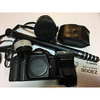 キヤノン(Canon)のCANON EOS-1ボディ スピードライト300EZ EXTENDER1.4x(デジタル一眼)