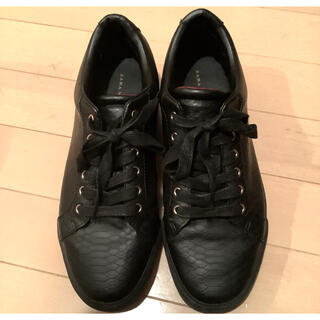 ザラ(ZARA)のZARA ザラ メンズ 黒 スニーカー 靴 シューズ 男 ブラック 革 26 (スニーカー)