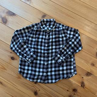 ユニクロ(UNIQLO)のキッズ  110 フランネルチェックシャツ 2枚セット ギンガムチェック(ブラウス)