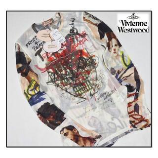 ヴィヴィアンウエストウッド(Vivienne Westwood)の新品【ヴィヴィアンウエストウッド 】ストレッチ テロプリント長袖Tシャツ L(Tシャツ/カットソー(七分/長袖))