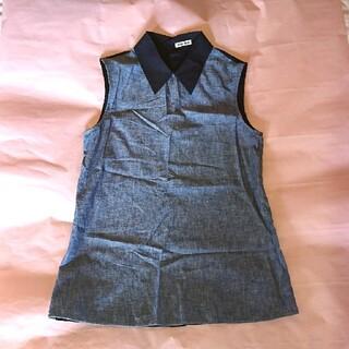 ミュウミュウ(miumiu)のMIUMIU シャツ ノースリーブ 38サイズ(シャツ/ブラウス(半袖/袖なし))