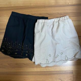 ドゥドゥ(DouDou)のスカート 2枚セット(ミニスカート)