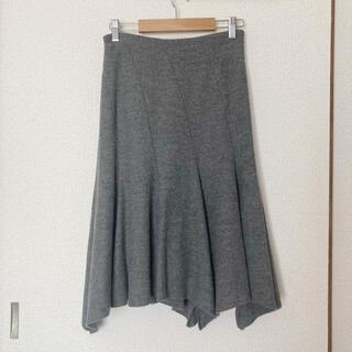 ストロベリーフィールズ(STRAWBERRY-FIELDS)のSTRAWBERRY FIELDS 毛100% 裏地付き フレア丈スカート(ロングスカート)