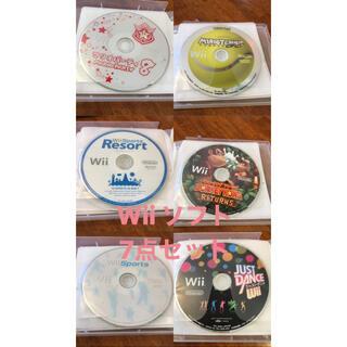 ウィー(Wii)のWii ゲームソフト 7点セット(家庭用ゲームソフト)
