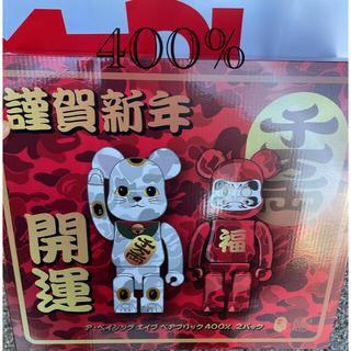 メディコムトイ(MEDICOM TOY)のNEW YEAR BE@RBRICK BAPE招き猫 & 達磨 400% (その他)