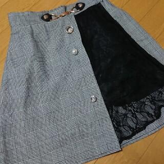 グレンチェック スカート キュロット(キュロット)