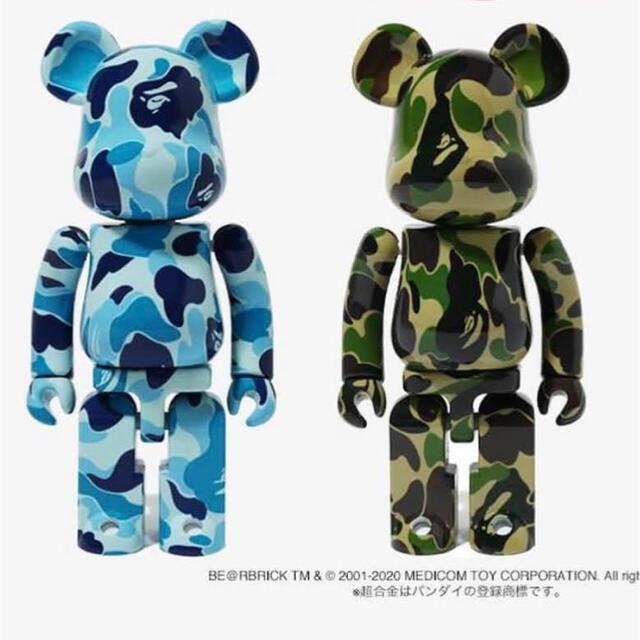 MEDICOM TOY(メディコムトイ)のBE@RBRICK × BAPE 超合金 200% ブルーとカモ 2体セット エンタメ/ホビーのおもちゃ/ぬいぐるみ(その他)の商品写真