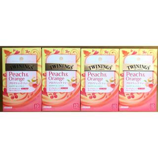 TWININGS トワイニング ピーチ&オレンジ アロマティック ティー 4箱(茶)
