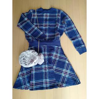 ナチュラルビューティーベーシック(NATURAL BEAUTY BASIC)の美品 スウェット スカート ワンピース セットアップ(セット/コーデ)