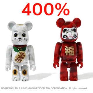 メディコムトイ(MEDICOM TOY)のNEW YEAR BAPE BE@RBRICK 招き猫&達磨 400%セット×2(その他)