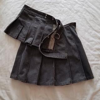 バツ(BA-TSU)のBA―TSU デニムプリーツスカート おまけ付き(ミニスカート)