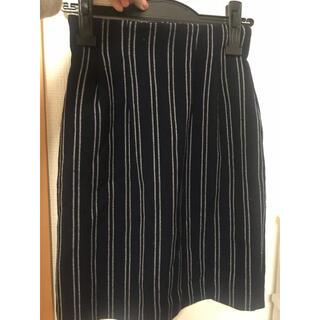 ココディール(COCO DEAL)のココディール ストライプ柄スカート スカート(ひざ丈スカート)