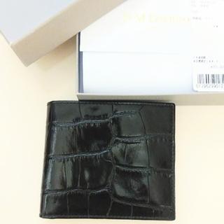 アパルトモンドゥーズィエムクラス(L'Appartement DEUXIEME CLASSE)の【新品未使用】J&M DAVIDSON 二つ折り財布 ブラック(財布)