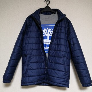 ティンバーランド(Timberland)のTimberland ダウンジャケットTシャツ メンズ M ネイビー(ダウンジャケット)