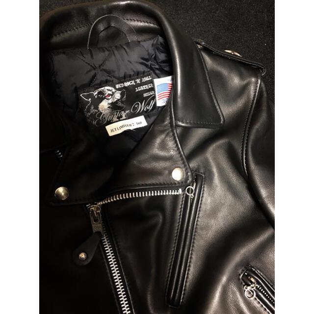 schott(ショット)の希少30★SCHOTTショット革ジャンJETギターウルフUSAロックンロール レディースのジャケット/アウター(ライダースジャケット)の商品写真