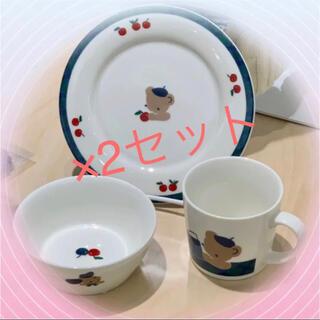 ファミリア(familiar)の【新品未使用】familiar プレート&ボウル&マグカップ 3点×2セット(食器)