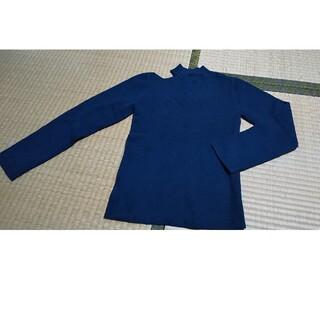 ココディール(COCO DEAL)の肩開きアシメニットネイビー(ニット/セーター)