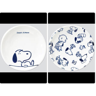 ユニクロ(UNIQLO)のピーナッツ × 長場雄 豆皿 マメザラ(12cm) 2枚セット(食器)