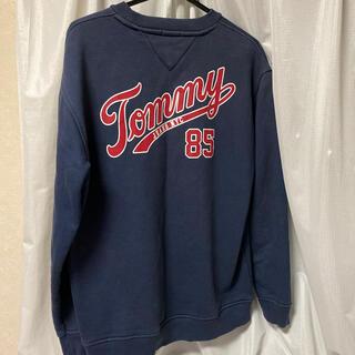 トミー(TOMMY)のTOMMY jeans トレーナー ネイビー M(パーカー)