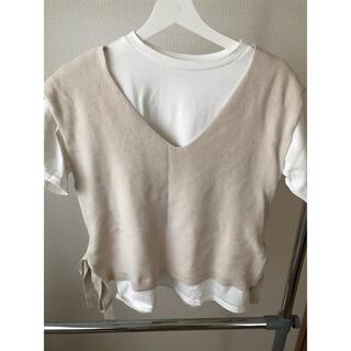 シマムラ(しまむら)のしまむら Tシャツ カットソー トップス ベスト(Tシャツ(長袖/七分))