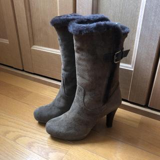 ダイアナ(DIANA)のダイアナ ベロアムートンブーツ   ブラウン 23.5(ブーツ)