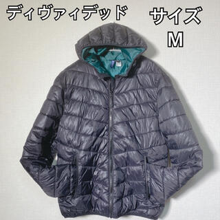 エイチアンドエム(H&M)のDIVIDED ダウンジャケット レディース ブラック Mサイズ 軽くて暖か(ダウンジャケット)