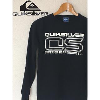 クイックシルバー(QUIKSILVER)のクイックシルバー ロンT 黒 日本製(Tシャツ/カットソー(七分/長袖))