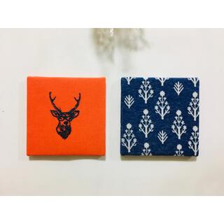 刺繍 小さなファブリックパネル 2枚セット 北欧◡̈ꕤ*.゜(ウェルカムボード)