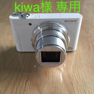 ソニー(SONY)の【専用です】 SONY DSC-WX500 デジカメ ホワイト 説明書付き(コンパクトデジタルカメラ)