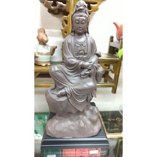紫砂 陶器 観音像 アンティーク 工芸品 仏教(彫刻/オブジェ)