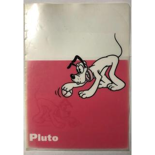 ディズニー(Disney)の※ プルート A4 クリアファイル ピンク(クリアファイル)