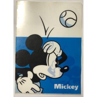 ディズニー(Disney)の☆ ミッキーマウス A4 クリアファイル ブルー(クリアファイル)