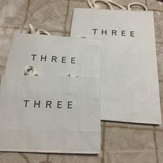 スリー(THREE)のスリー THREE ショッパー 紙袋 3枚(ショップ袋)