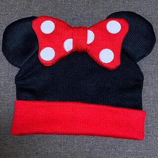 ディズニー(Disney)のディズニー ミニーちゃん ニット帽(ニット帽/ビーニー)