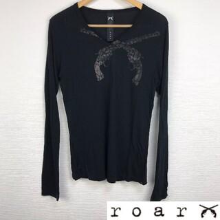 ロアー(roar)の美品 roar ロアー 長袖カットソー ブラック サイズ2(Tシャツ/カットソー(七分/長袖))
