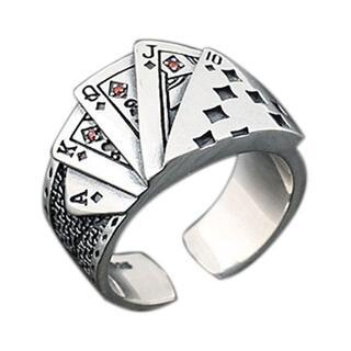 トランプ リング 指輪 アクセサリー ジュエリー スチームパンク カード 10号(リング(指輪))