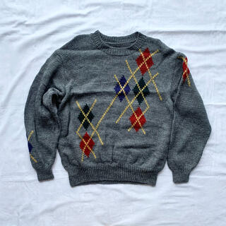 ロキエ(Lochie)の冬服【vintage】古着男子 レトロ ニット セーター(ニット/セーター)
