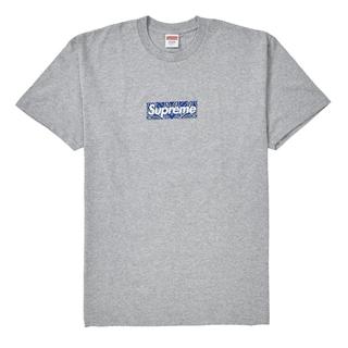 シュプリーム(Supreme)のSupreme Bandana Box Logo Tee Grey L グレー(Tシャツ/カットソー(半袖/袖なし))
