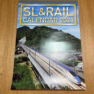 ジェイアール(JR)のSL&RAIL カレンダー2021 新品(カレンダー/スケジュール)