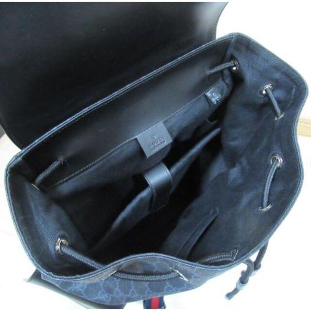 Gucci(グッチ)のGUCCI グッチ リュック バックパック GGスプリーム キャンバス 黒 レディースのバッグ(リュック/バックパック)の商品写真